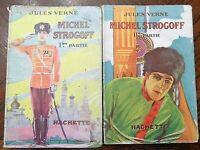 VERNE Jules  - Michel Strogoff  -  Coll. Hachette - Tomes 1 & 2 - 1928