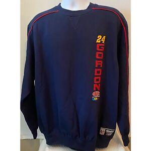 NWT NASCAR Chase Authentics Mens Jeff Gordon #24 Navy Sweatshirt Size Large