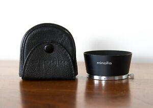 Excellent Minolta D57KB Lens Hood w/ Case for Rokkor 58mm f1.2/f1.4, 55mm f1.8