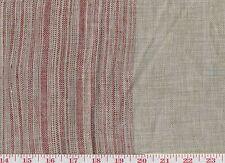 Red Linen Stripe fr Belgium Ralph Lauren Upholstery Fabric R$336y Antica Stripe