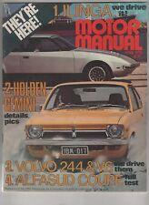 Motor Manual 1975 Apr Alfasud BMW 3.3 Volvo 244 264 Ilinga AF2 Triumph TR7 Rolls