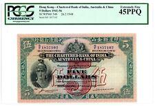 Hong Kong ... P-54b ... 5 Dollars ... 26-2-1948 ... *XF* PCGS 45 PPQ.