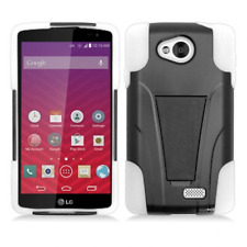 For MetroPCS LG Optimus F60 Advanced HYBRID KICKSTAND Rubber Case Cover