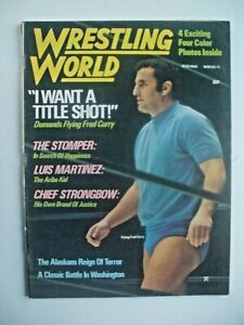 WRESTLING WORLD MAG-WINTER '71 FULL PAGE COLOR PIX OF LADD,BOBO,STOMPER & SHEIK!