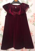New Girls Store Plum Velvet Velour Festive Christmas Xmas Party Occasion Dress