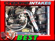 "K&N+RED 96 97-05 CHEVY S10/ZR2/BLAZER/SONOMA/JIMMY 4.3L V6 COLD AIR INTAKE 3.5"""