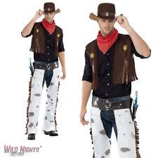 "FANCY DRESS COSTUME # ADULT MENS WILD WESTERN COWBOY 38""-44"""
