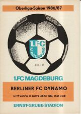 OL 86/87  1. FC Magdeburg - BFC Dynamo Berlin