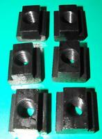 Pack of 6 Tee Nuts 10mm table slot M8 stud