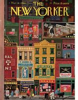 1944 New Yorker Cover- March 18 - The Chinese restaurant on the lower east side