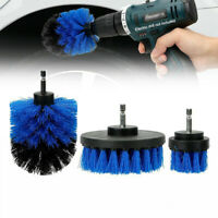 Car Wash Brush Cleaner Hard Bristle Drill Auto Detailing Cleaning Tool 3 Pcs/set