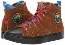 POLO RALPH LAUREN Mens DLEANEY Brown Hairy Suede Sportsmen High-Top Sneakers