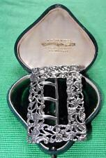 Old Art Nouveau Chester 1893 Solid Silver Cast & Chased Buckle Valentine Gift