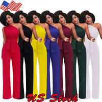 US Women Jumpsuit Romper Off-Shoulder Playsuit Clubwear Bodycon  Trousers Outfit