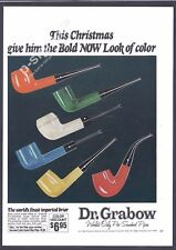 Dr. GRABOW pre smoked Pipes 1971 Vintage Print Ad # 154 6