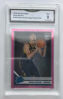 Goga Bitadze 2019-20 Optic Rated Rookie Hyper Pink Prizm RC #166 GMA 9 NM