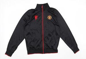 Manchester United Mens Black   Full Zip Sweatshirt Size M  - Manchester United