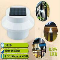 New Outdoor Solar Power LED Light Garden Fence Yard Wall Gutter Pathway Lamp MTC