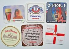 6 BEER MATS. ERDINGER,RODENBACH,FAMOUS GROUSE,TAP SPILE,YORK DUNGEON  +  ANOTHER
