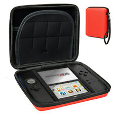 Red Carry Storage Hard Protective Case Cover For Nintendo 2DS Game With Zip UK