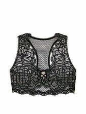 Victoria's Secret Dream Angels Bralette Racerback Lace Unlined Bra Black S