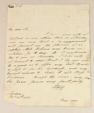 1818 | letter explorer William Parry to astronomer HERSCHEL joseph banks + comet