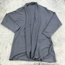 Oska Women's 1 - US 6 / 8 Gray Dolman Long Line Cardigan Silk Cashmere