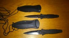 2 Smith & Wesson S&W HRT H.R.T.  Boot Dagger Neck Knives SWHRT3BF SWHRT3 knife