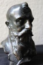 Büste Bronze Männerkopf bayrisch München um 1900 Art Nouveau Jugenstil signiert