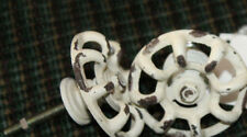 ONE NEW Distressed Faucet Valve Handle Cabinet Door Drawer Knob Steampunk white