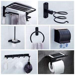 Wall Mounted Bathroom Holder Towel Bar Rack Toilet Paper Storage Hardware Set