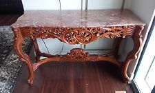 Solid Wood Marble Top Console Table