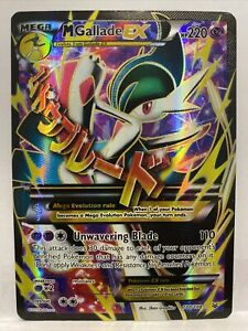 Mega Gallade EX 100/108 - Full Art Holo - XY Roaring Skies Pokemon Card MINT