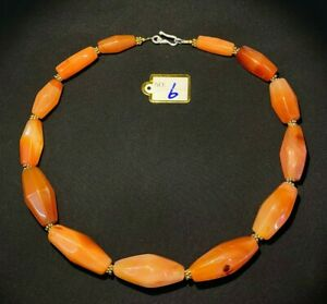 A beautiful  Angkorian   red carnelian  beads necklace from Cambodia