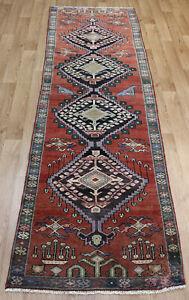 Antique Handmade Persian Karajeh Runner 275 x 80 cm Hand Knotted Wool Runner