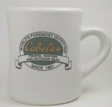 Vintage Cabela'S Mug Diner Style Coffee Hot Coco Cup Hunting, Fishing,Camping