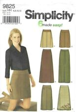 Simplicity Pattern 9825, 6 Made Easy - Slim, A-Line Skirts, Size 6 only, Easy
