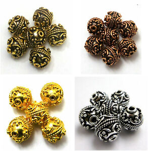 8MM TO 16MM BALI BEAD ANTIQUE STERLING SILVER PLATED GOLD PLATED ANTIQUE GOLD B4