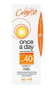 Calypso Once a Day Sun Protection | SPF 40 | 8 hours protection | Lotion 150ml