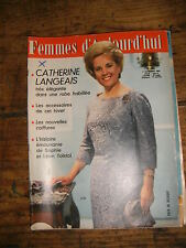 Femmes d'aujourd'hui N° 961 1963 Mode vintage  patrons Couture Broderie Robe