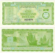 Antigua & Barbuda - Kingdom of Redonda 1000 Dollars 2013 UNC Fantasy Banknote