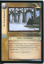 Lord Of The Rings CCG Card SoG 8.U19 On Your Doorstep