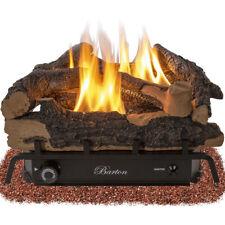 Barton 24 inch Vent-Free Natural Gas Fueled Log Set 32000BTU Dual Burner Ember