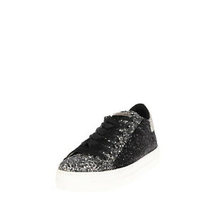 RRP €220 GUESS Sneakers EU 37 UK 4 US 6.5 Two Tone Glitter Lace Up Made in Italy
