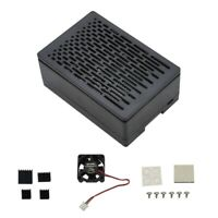 For Raspberry Pi 4B Protective ABS Case with Cooling Fan Aluminum HeatSink  T3R2