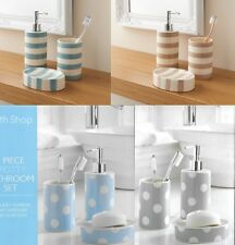 Bathroom Accessory Set - Soap Dish Dispenser Tumbler Toothbrush Holder