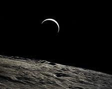Apollo 15 Earthrise über Lunar Oberfläche 8x10 Silber Halogen Fotodruck