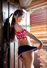 RISA YOSHIKI ~ SHORT SKIRT ~ SEXY A4 SIZE GLOSSY PHOTO.