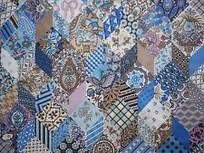 Pretty unused vintage 70's Sanderson patchwork fabric - 'Hannah' 1M lengths