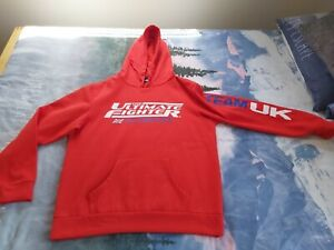 The Ultimate Fighter TUF UFC  Smashes Red Official Team Uk Hoodie Size XL